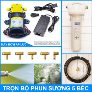 Bo Phun Suong Tuoi Lan Lam Mat 12V 30W 5 Bec