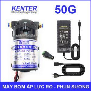 May Bom Ap Luc 24V Phun Suong RO 50G Kem Nguon Dien