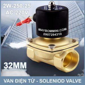 SOLENIOD VALVE Van Dien Tu 220v 2w 250 25 32mm