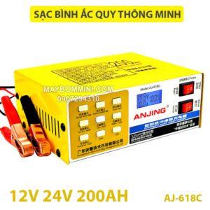 May Sac Binh Ac Quy Tu Dong AJ 618C