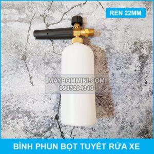 Binh Phun Bot Tuyet Rua Xe Noi Ren Ngoai 22mm