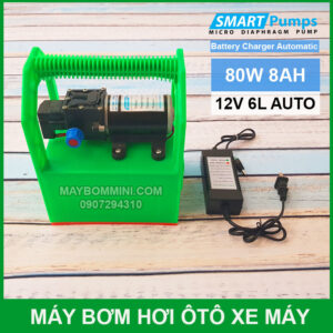 May Bom Mini Ap Luc 12v 80W Ac Quy 8Ah