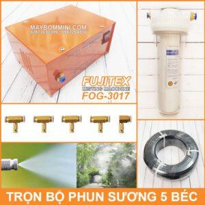 Tron Bo Phun Suong Lam Mat Tuoi Lan 5 Bec Fujitex Fog 3017