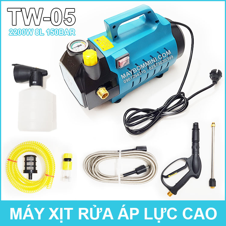 May Rua Xe Ap Luc Cao 220V 2200W Sumo TW 05 Co Chinh Ap